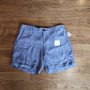 "NWT Old Navy 7"" Linen Blend Shorts 0"